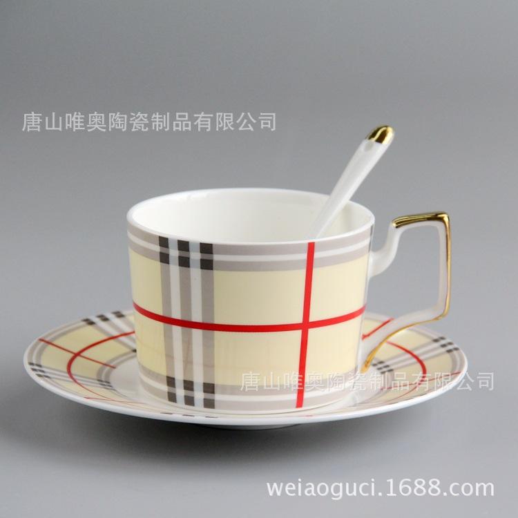 骨质瓷创意咖啡杯碟套装