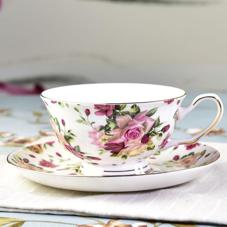欧式咖啡杯碟 定制骨质瓷