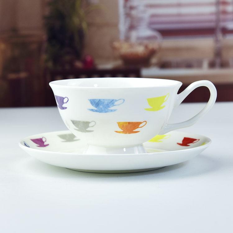 厂家批发创意陶瓷杯碟 骨