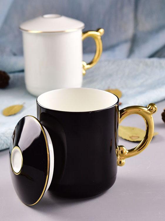 批发骨瓷水杯 陶瓷创意带