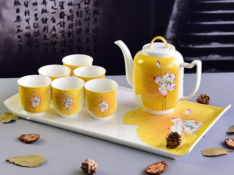 创意骨质瓷7头水具茶具批