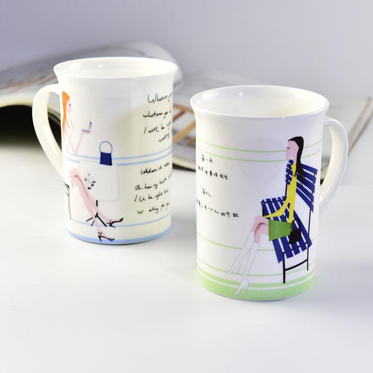 骨质瓷反口奶杯 厂家批发
