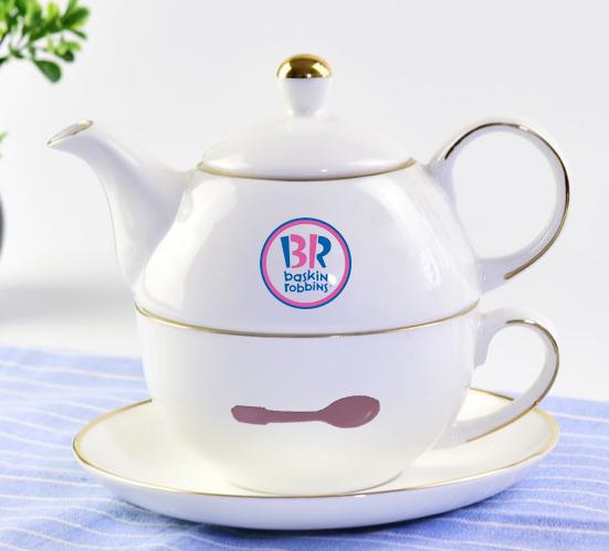 骨瓷子母壶茶具