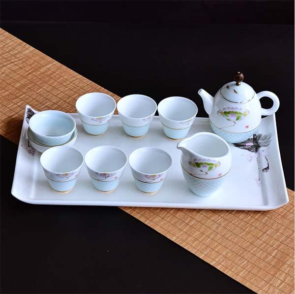 精致骨瓷手绘功夫茶具套