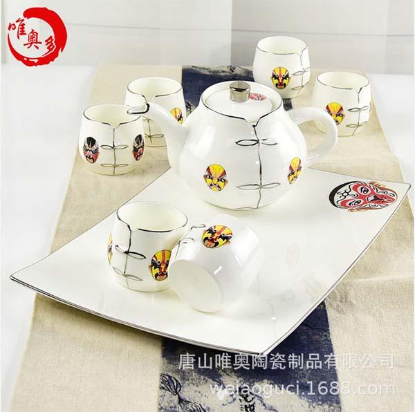 骨瓷茶具套装 一壶六杯功