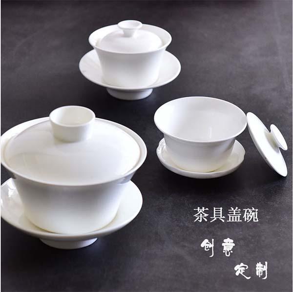骨瓷盖碗三件套 骨瓷茶碗