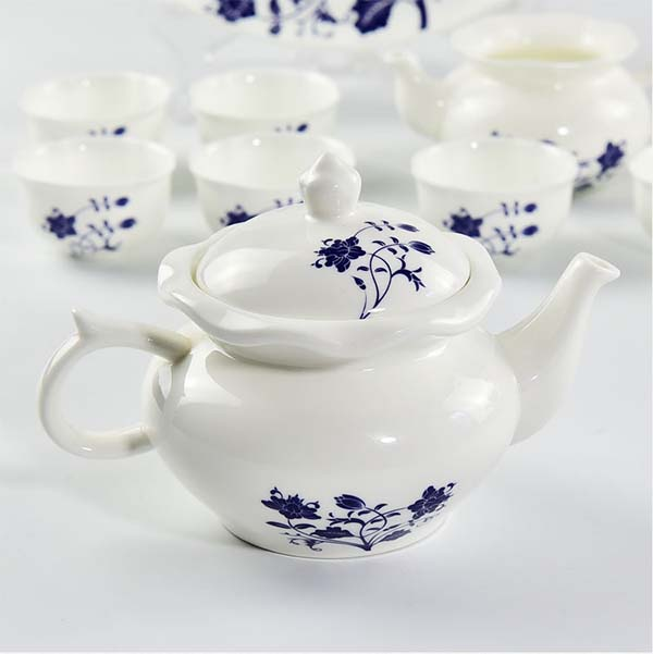 新中式青花骨瓷功夫茶具