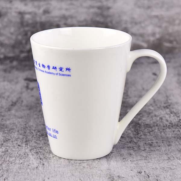 开模定制骨质瓷广告杯 陶