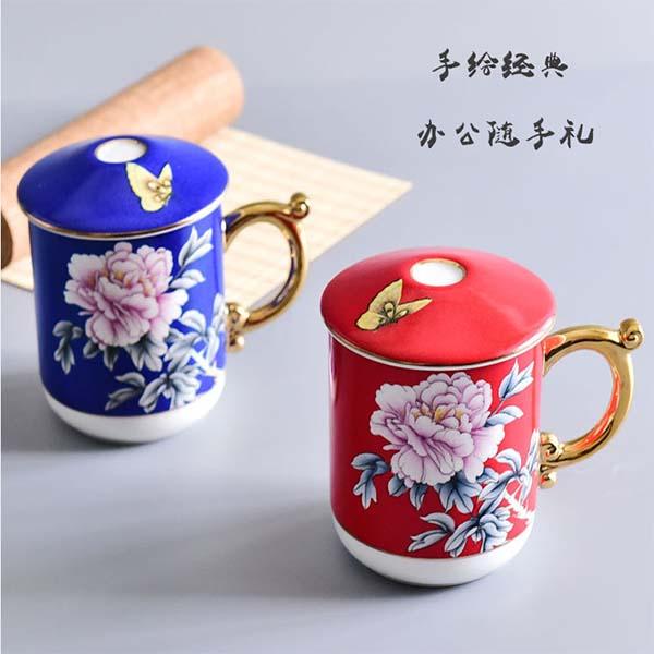 骨瓷手绘家用办公礼品杯