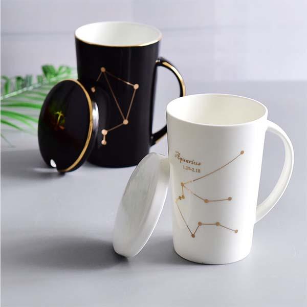 陶瓷马克杯 大容量简约星