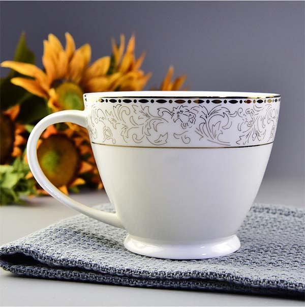 陶瓷水杯 骨瓷早餐杯奶茶