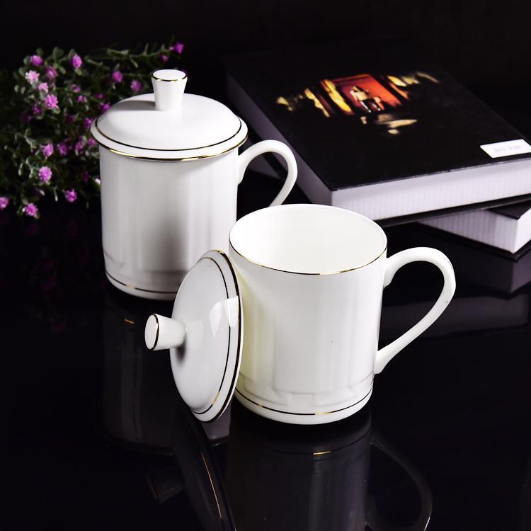 金边骨瓷大茶杯