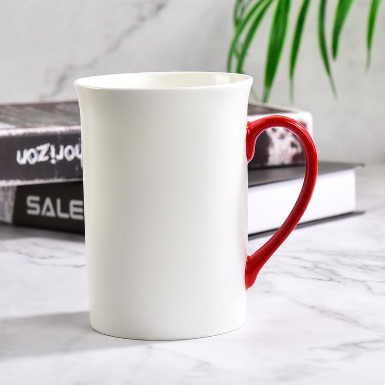 红把陶瓷奶杯