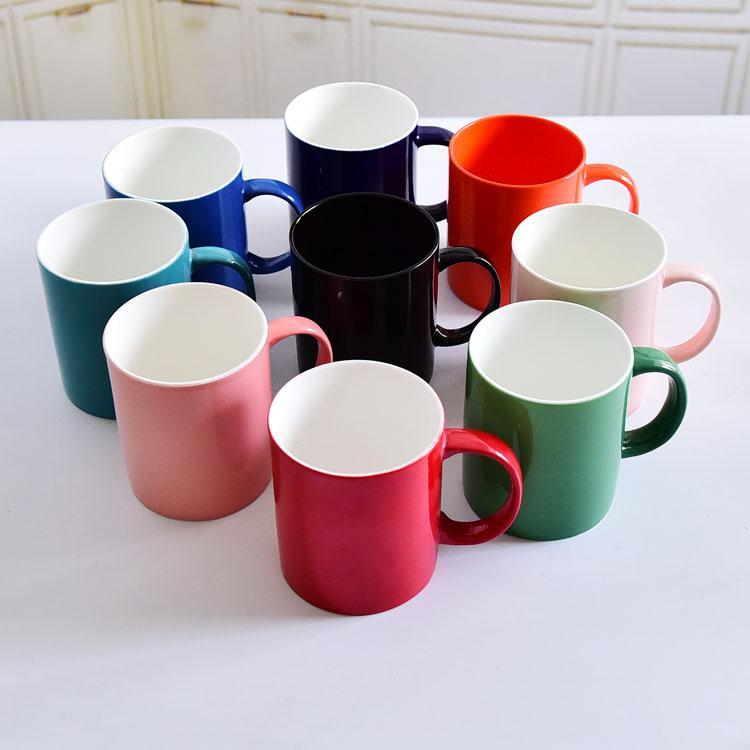 彩釉直身陶瓷水杯