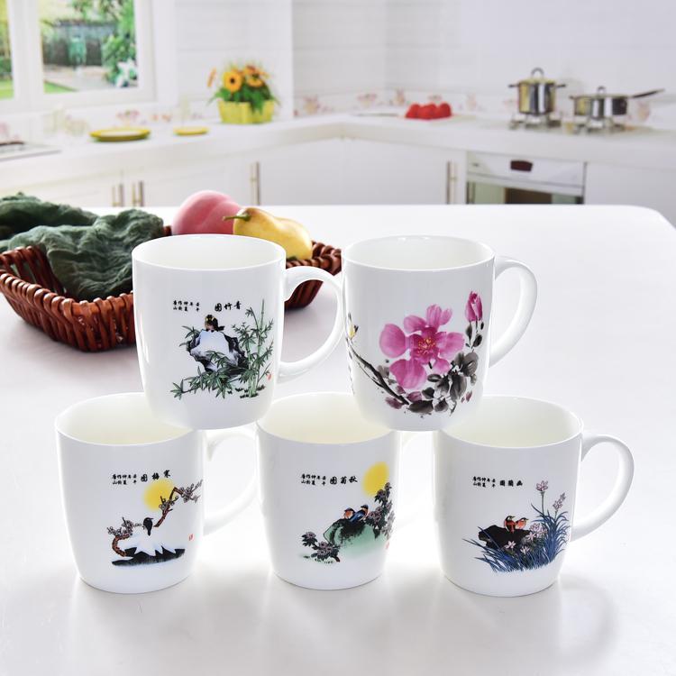 梅兰竹菊陶瓷杯