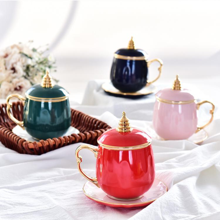 骨瓷宝塔茶杯