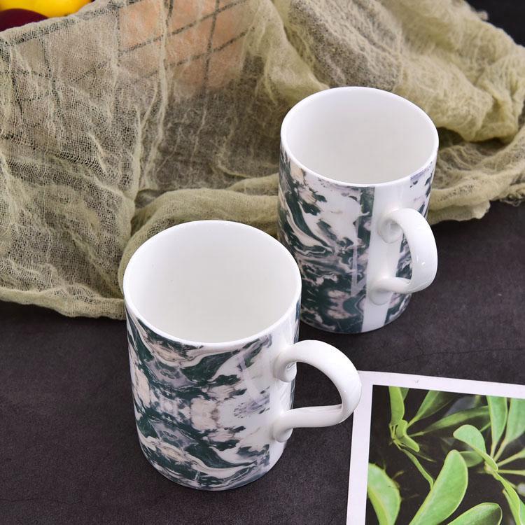 大理石朱比陶瓷杯
