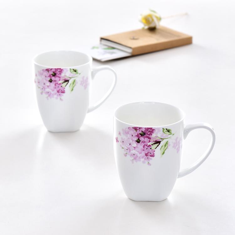 紫罗兰骨瓷方奶杯定制