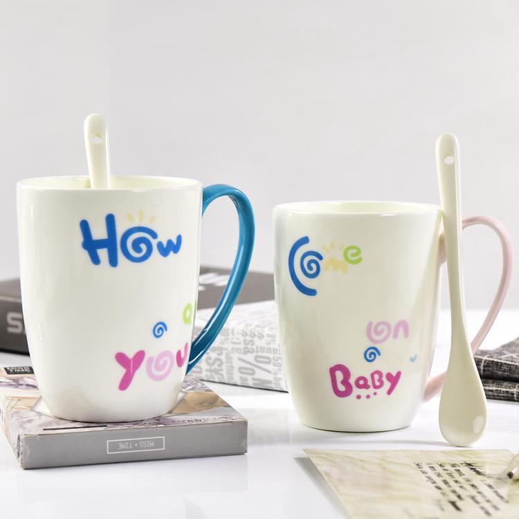 情侣骨瓷奶杯定制