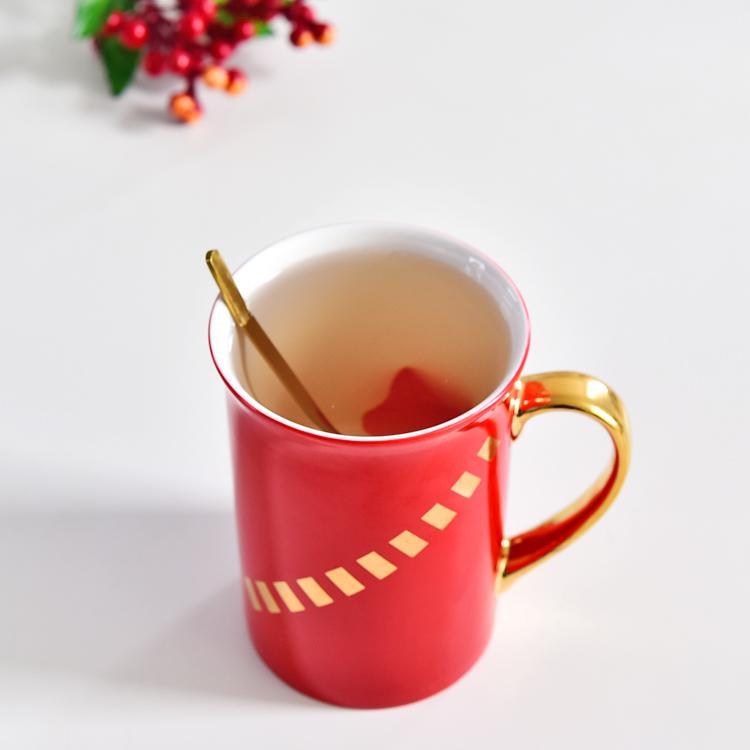 红数码骨瓷奶杯
