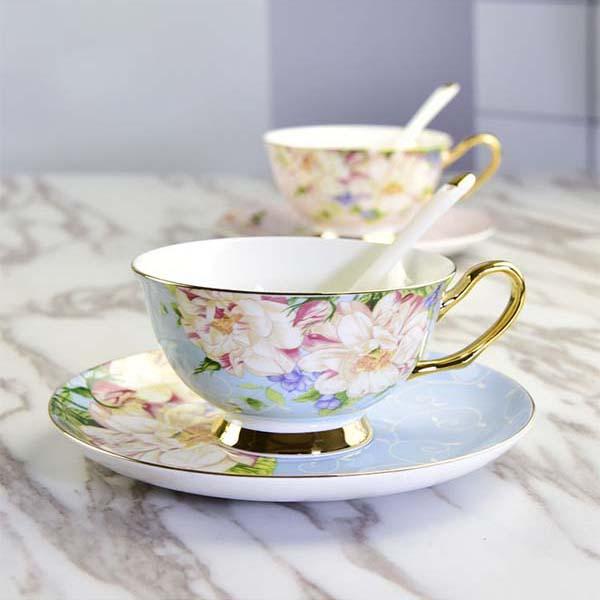 欧式金边骨瓷咖啡杯