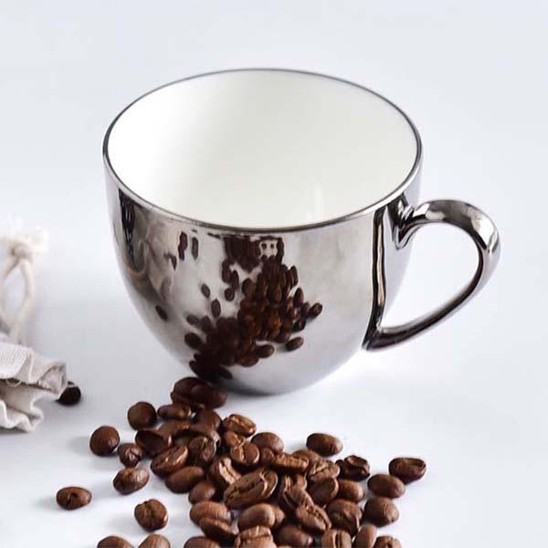 定制纯色骨瓷咖啡杯碟