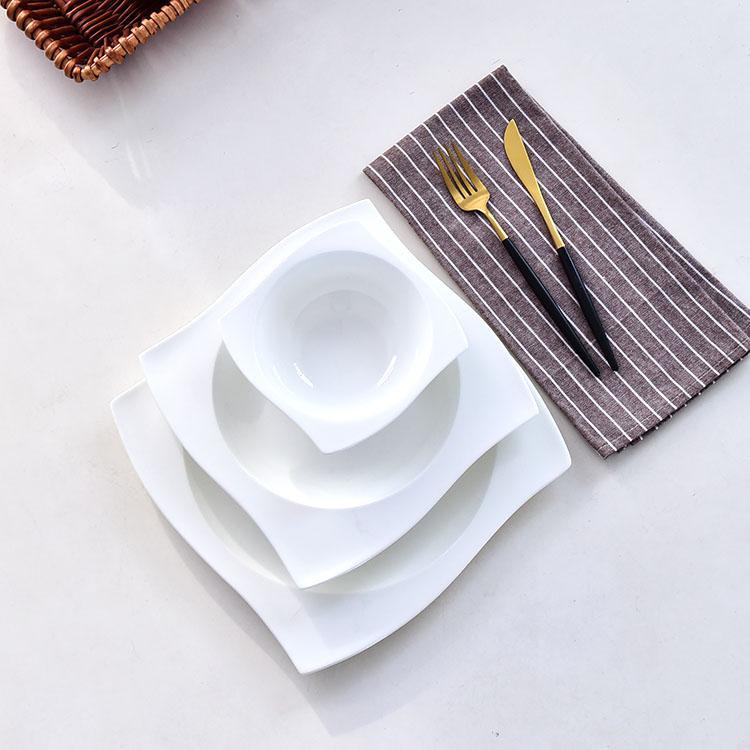 转角骨瓷餐具
