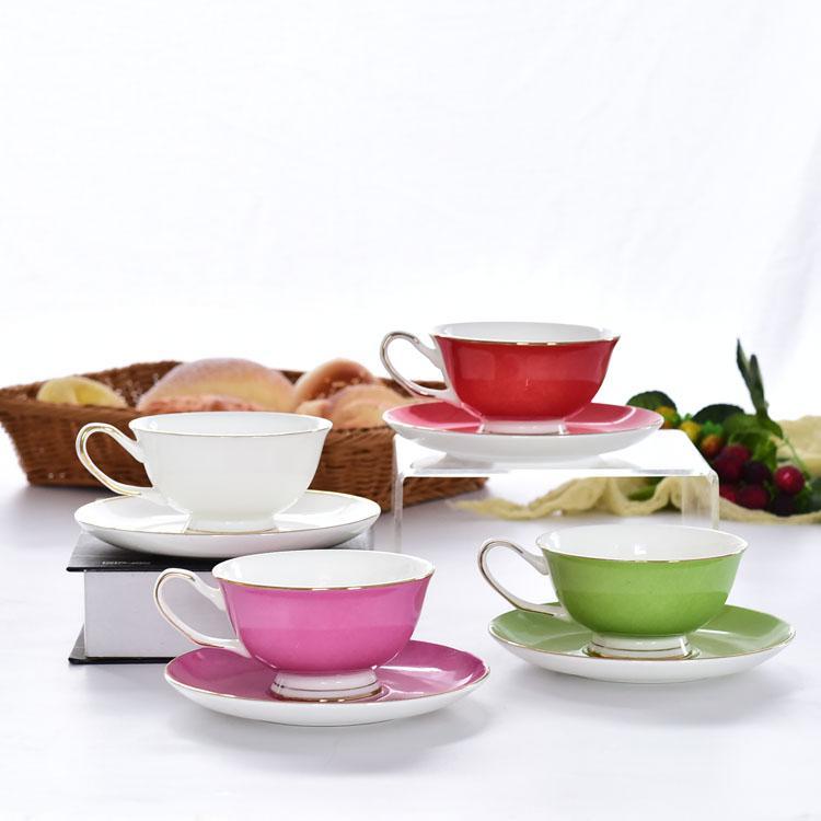 个性多彩骨瓷咖啡杯碟