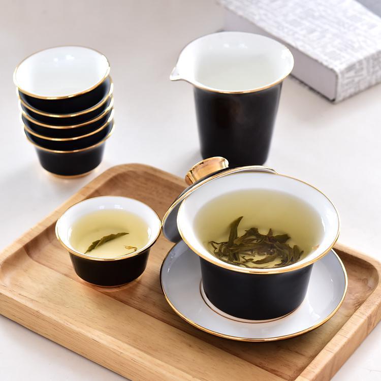 黑釉骨瓷茶具套装
