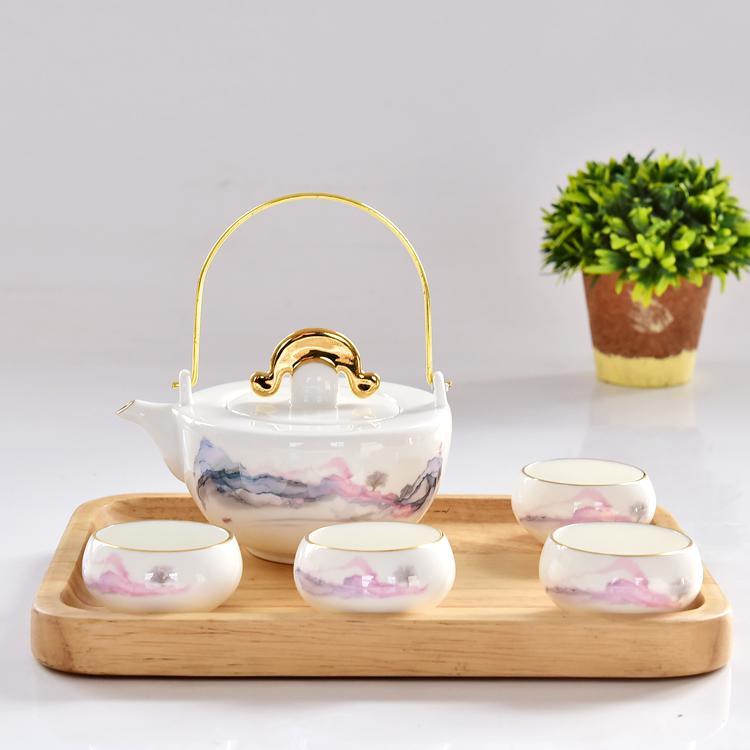 日出江山骨瓷茶具套装