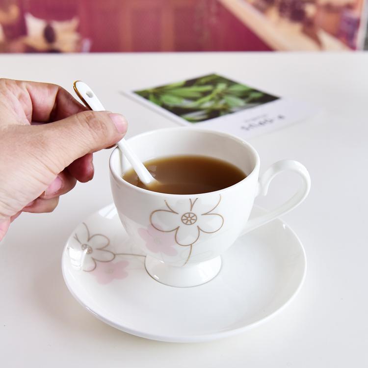 韩玲儿骨瓷咖啡杯碟