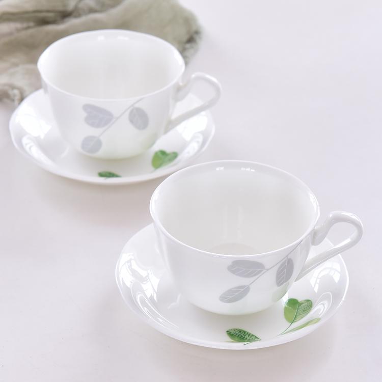 绿叶骨瓷咖啡杯碟