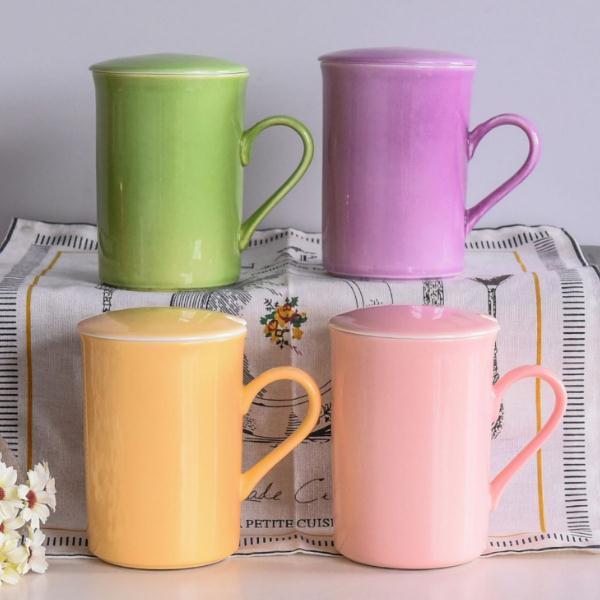 4号带盖陶瓷奶杯