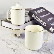 金边骨瓷大茶杯定制